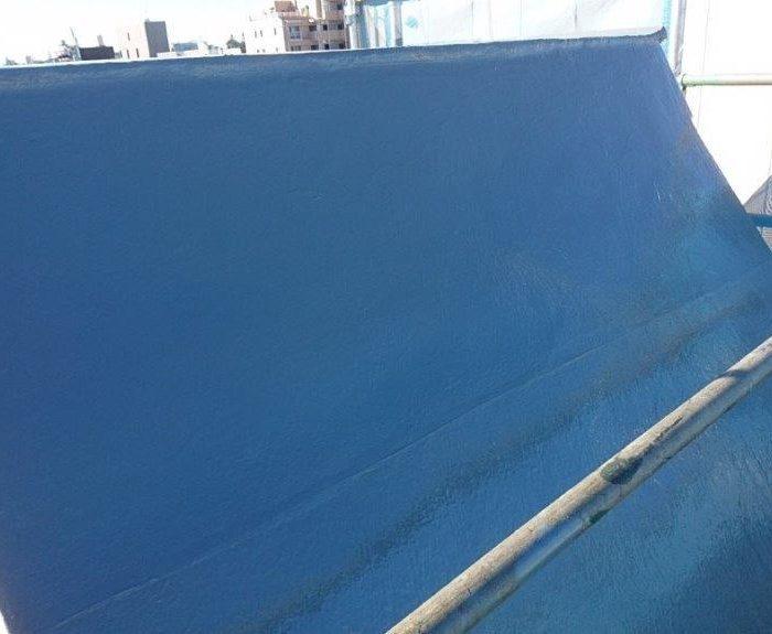 斜壁屋根の防水工事(エックスツー工法)