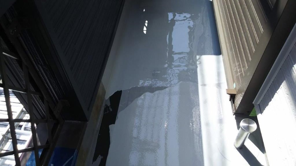 モルタル防水層の劣化に伴うベランダの防水工事|千葉県船橋市のI様邸にて雨漏り修理