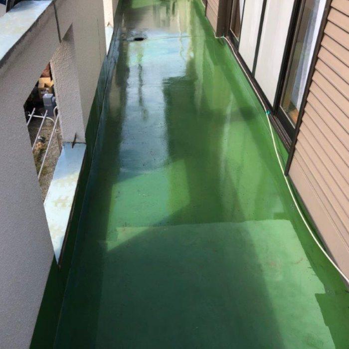 ひび割れからの漏水に伴うベランダ防水工事(ウレタン塗膜 通気緩衝工法|東京都昭島市のM様邸にて雨漏り修理