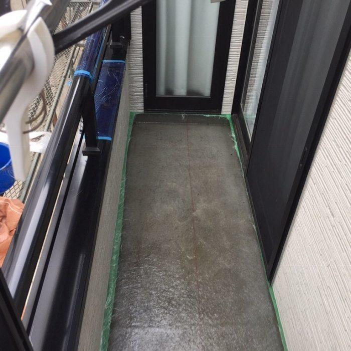 ベランダのFRP防水工事 東京都目黒区のT様邸にて雨漏り修理