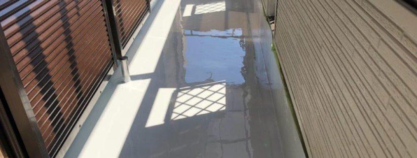 ベランダのウレタン防水工事