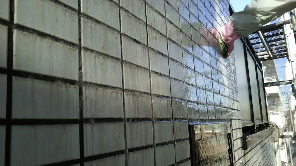 外壁タイル面の防水工事(セブンS防水)|東京都江戸川区のK様邸にて雨漏り修理