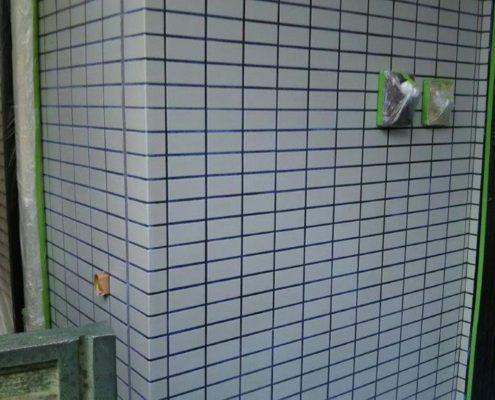 外壁タイル面の防水工事