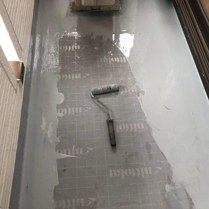 ベランダの防水工事(ウレタン塗膜 通気緩衝工法) さいたま市大宮区のE様邸にて雨漏り修理