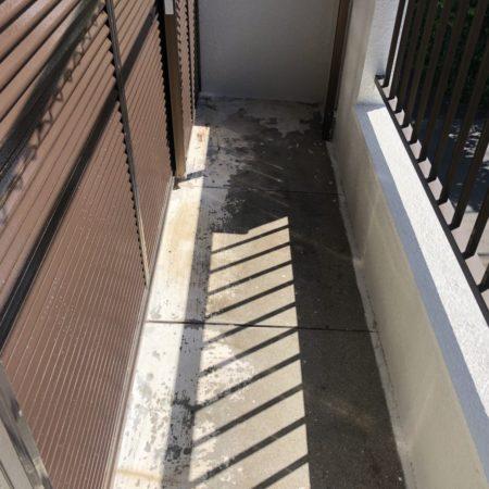 バルコニーの防水工事(ウレタン通気緩衝工法) 千葉県白井市のO様邸にて雨漏り修理