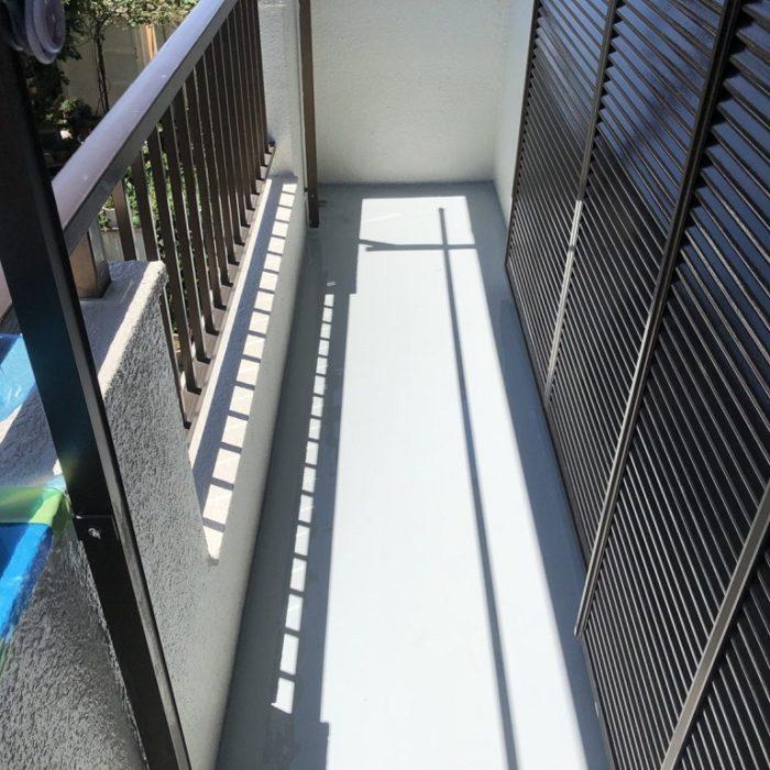 バルコニーの防水工事(ウレタン通気緩衝工法)|千葉県白井市のO様邸にて雨漏り修理