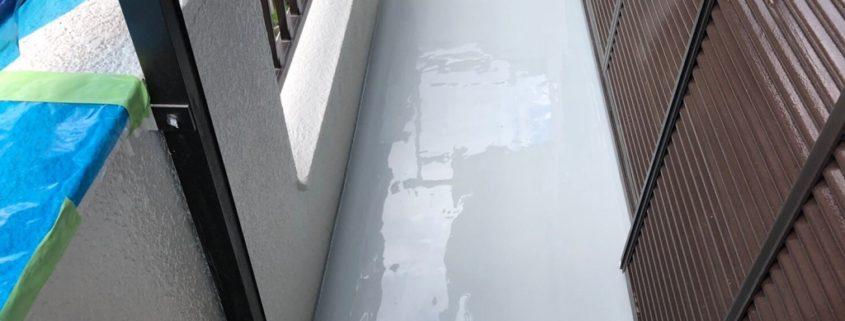 バルコニーの防水工事(ウレタン通気緩衝工法)