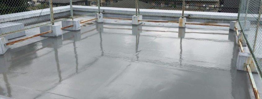 屋上のウレタン防水工事(部分補修)