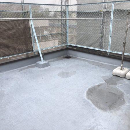 屋上・ベランダの防水工事|東京都練馬区北町のMビルにて雨漏り修理