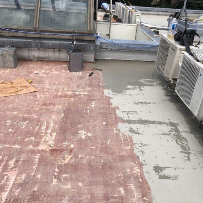 屋上のウレタン防水工事(通気緩衝工法)|東京都大田区田園調布のHマンションにて雨漏り修理