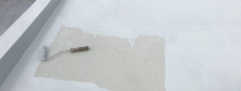 ウレタン防水材 2層目の塗布