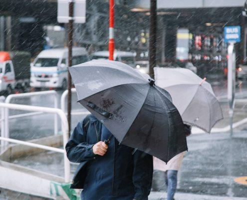 秋台風による大雨