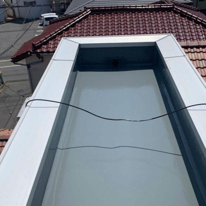 塔屋部分の防水工事|千葉県船橋市飯山満町のN様邸にて雨漏り修理
