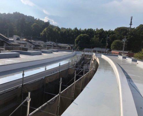 屋上の庇(ひさし)部分の防水工事