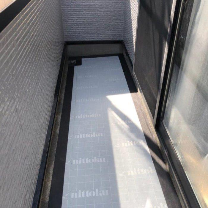 ベランダの防水工事(ウレタン通気緩衝工法)|千葉県船橋市飯山満町のK様邸にて雨漏り修理