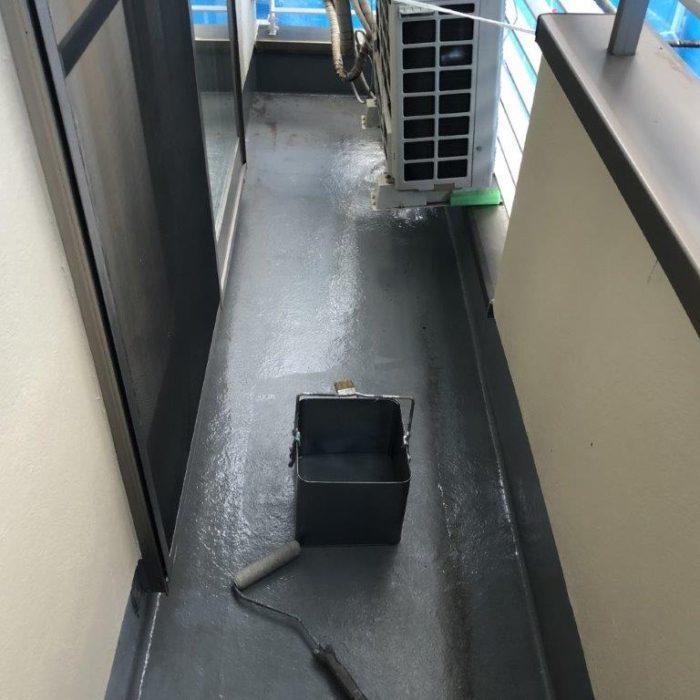 ベランダの防水工事(ウレタン密着工法)|東京都板橋区大原町のA様邸にて雨漏り修理