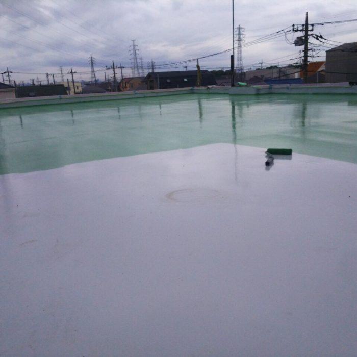 屋上の防水工事(ウレタン通気緩衝工法)|東京都足立区西伊興のM工場にて雨漏り修理