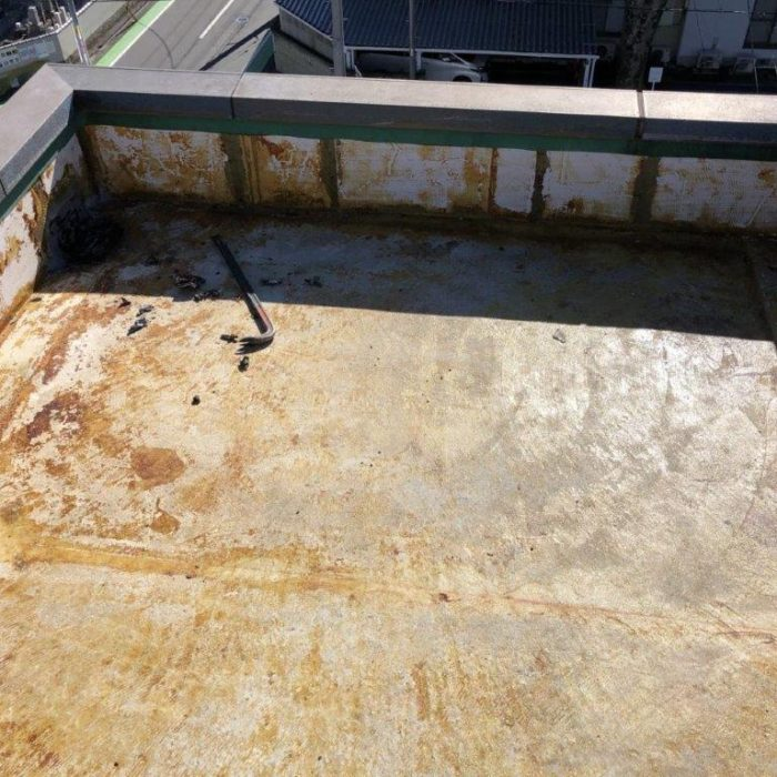 屋上・塔屋の防水工事(ウレタン通気緩衝工法)|埼玉県川口市前上町のK様邸にて雨漏り修理