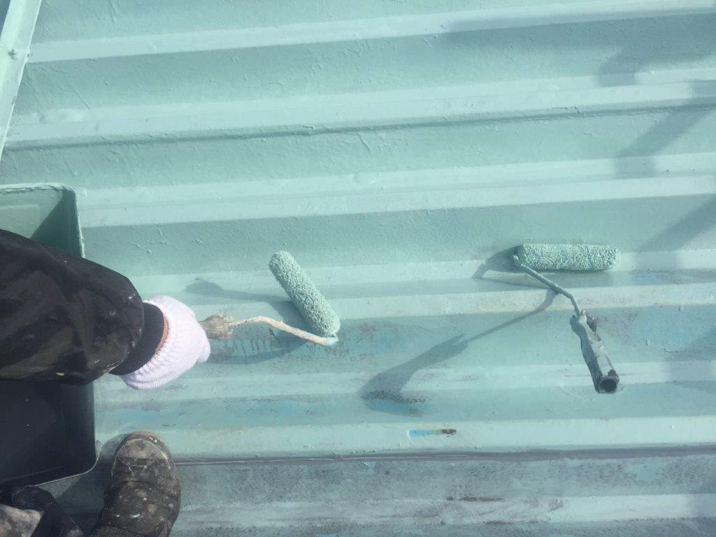 主材2層目の塗装