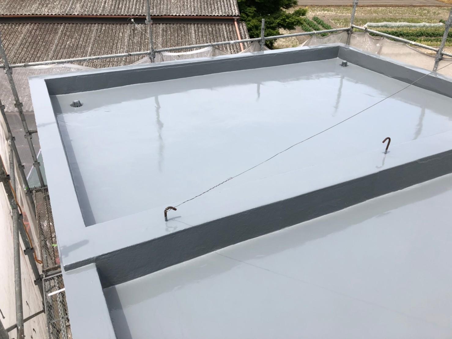 屋上の防水工事完工