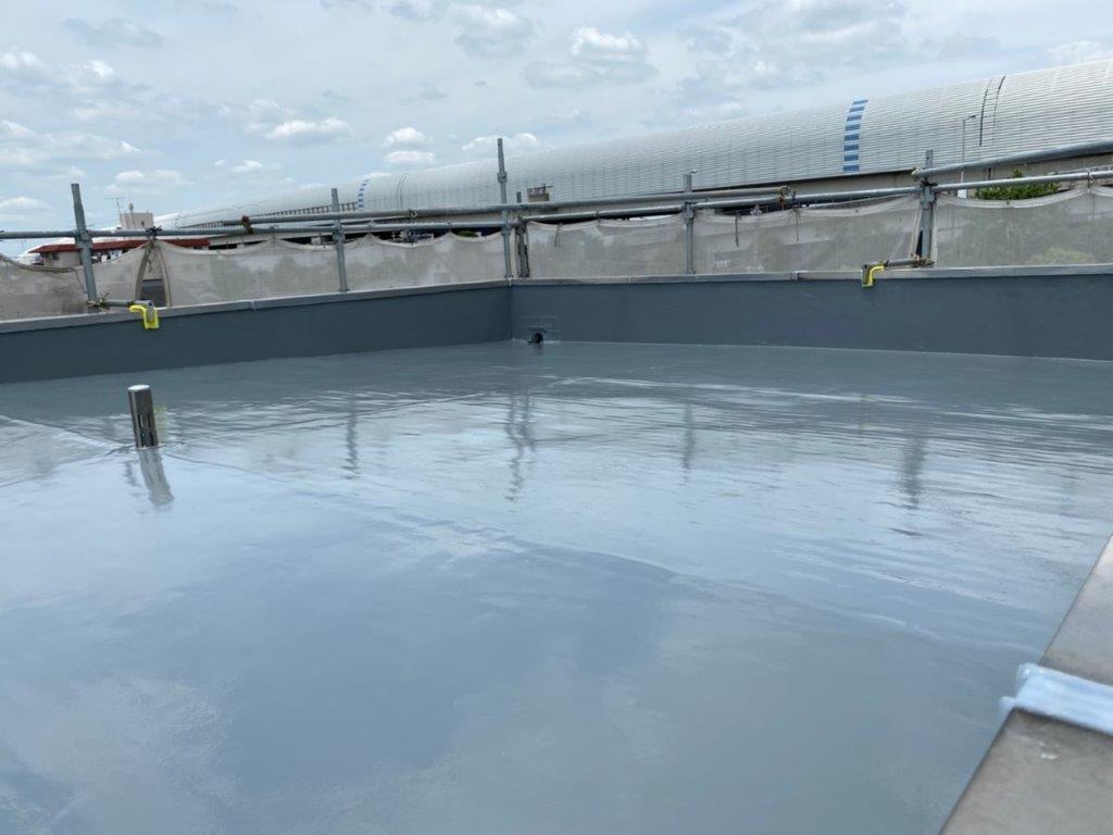 屋上のウレタン塗装