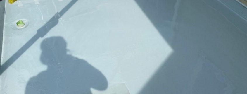 ウレタン樹脂2層目の塗装