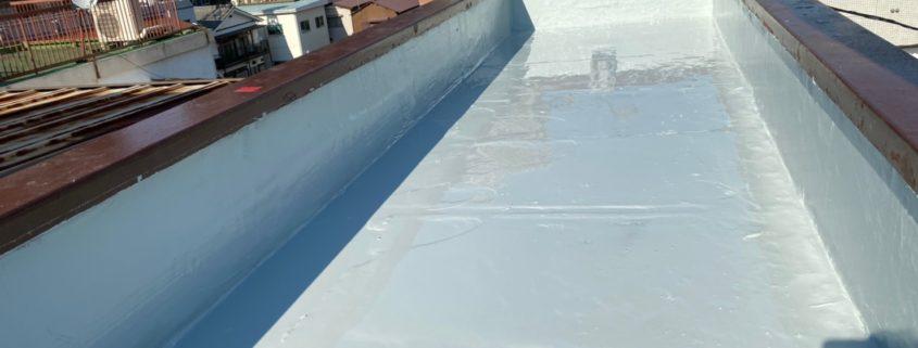 平場へのウレタン樹脂の塗装