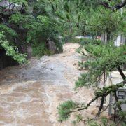 台風による雨漏り修理