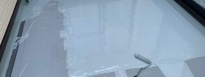 ウレタン1層目の塗装(立ち上がり)