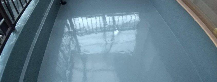 ベランダ防水完工