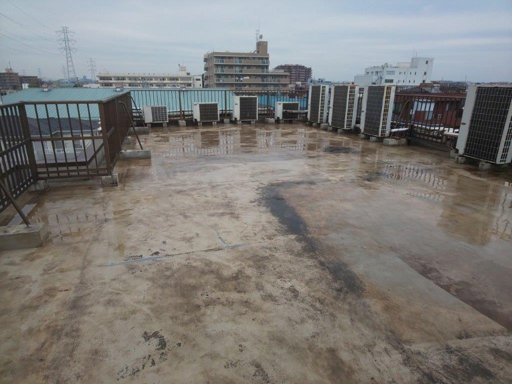 防水工事前の状態