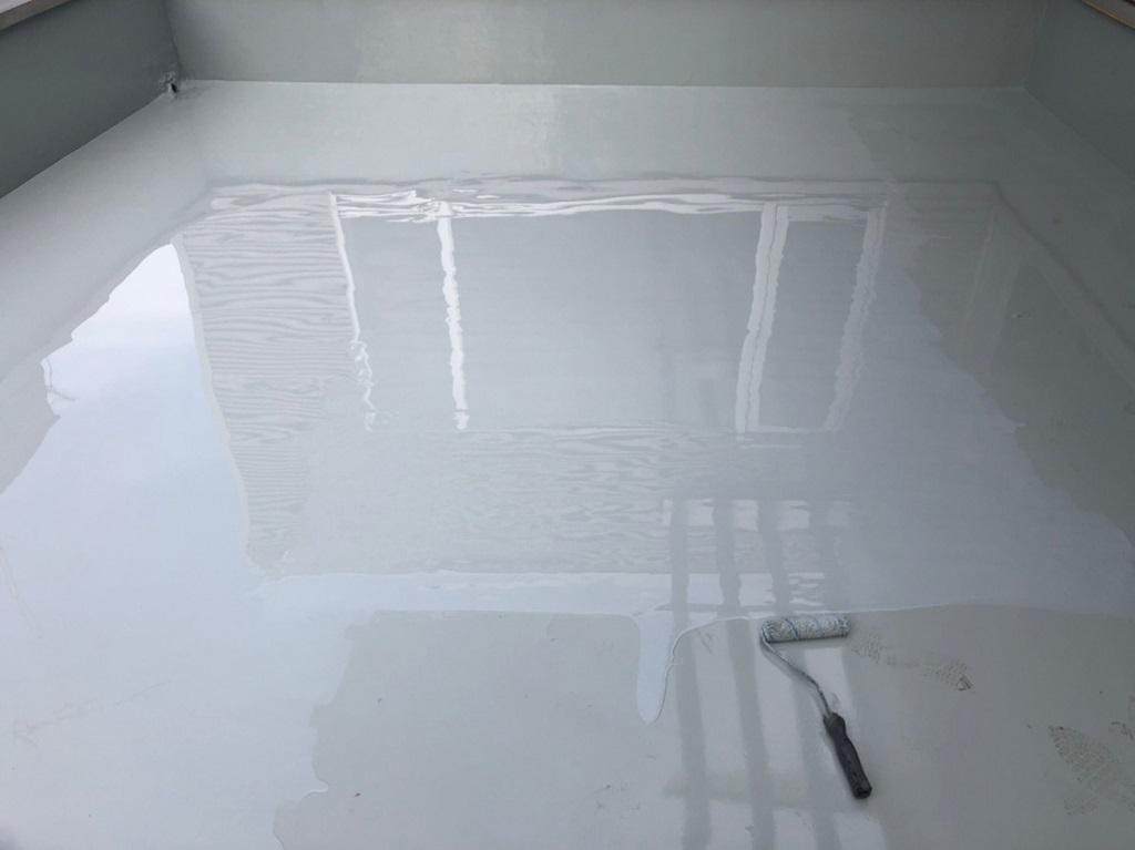 2層目のウレタン塗布