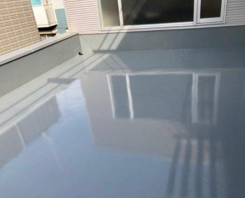 屋上のトップコート塗装後