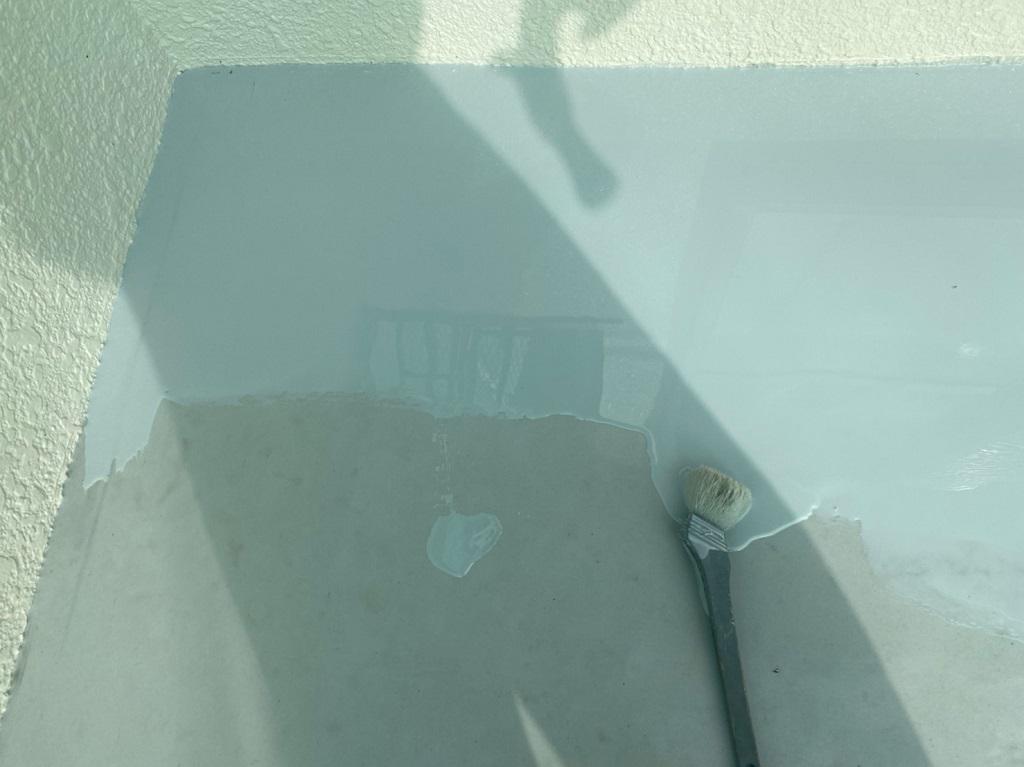 立ち上がりの2層目のウレタン塗布