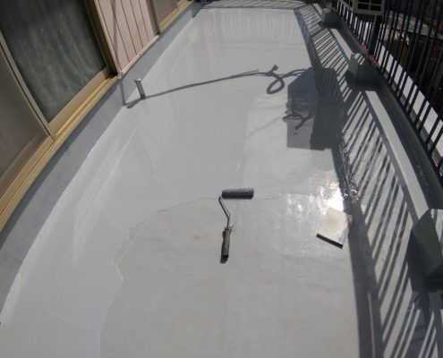2層目のウレタン塗装