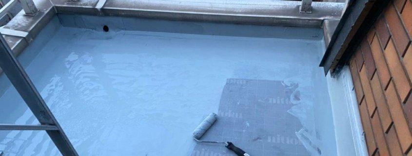 1層目のウレタン塗装