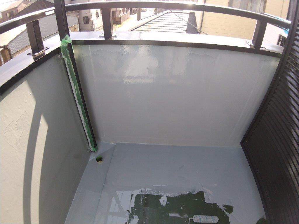 1層目のウレタン塗布