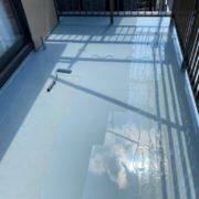 床平面部へのウレタン塗装