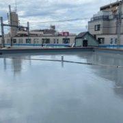 屋上の防水工事完了